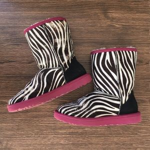 Ugg Classic Short Boots Exotic Zebra